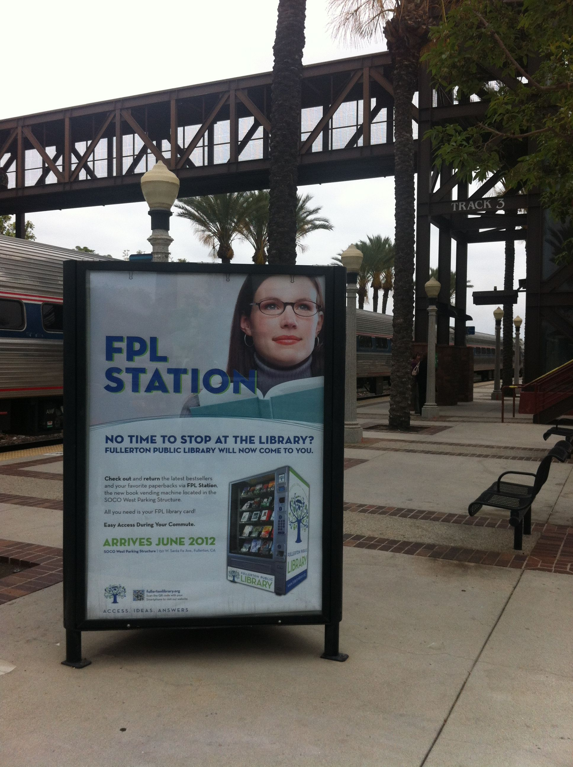 Lending Library Train Station Sign