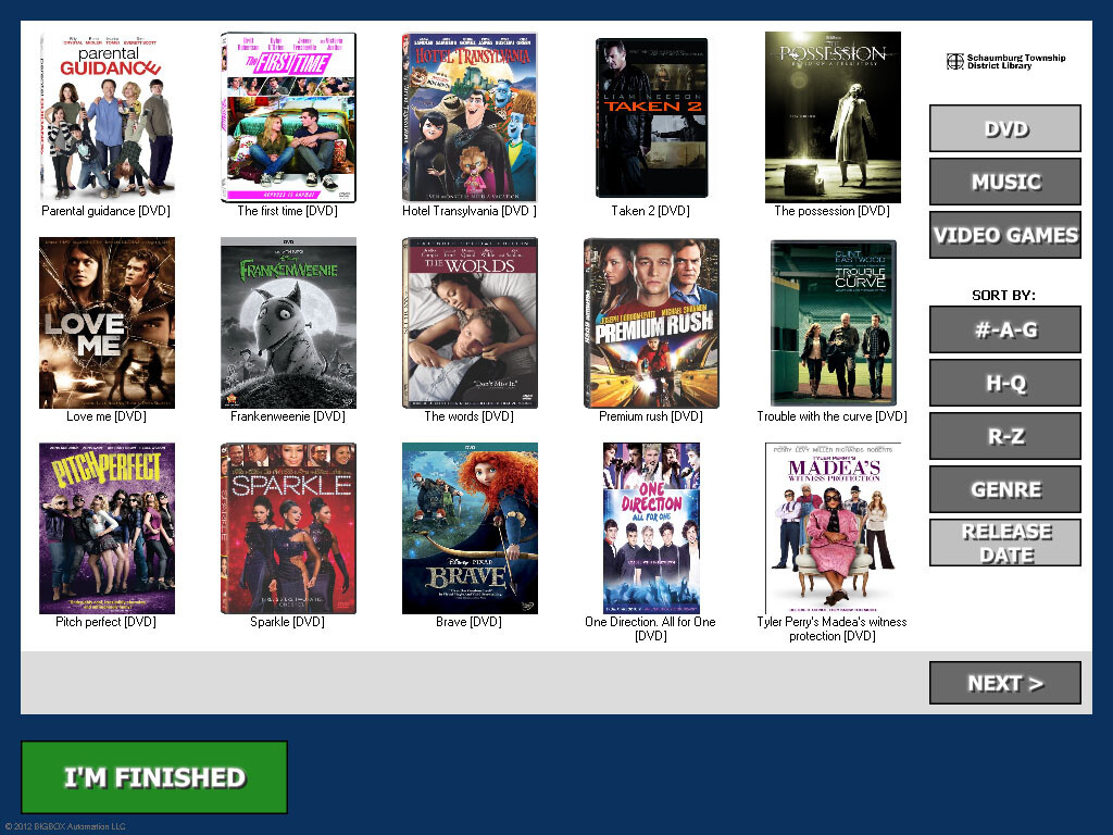 Library Media Box Browsing Screenshot