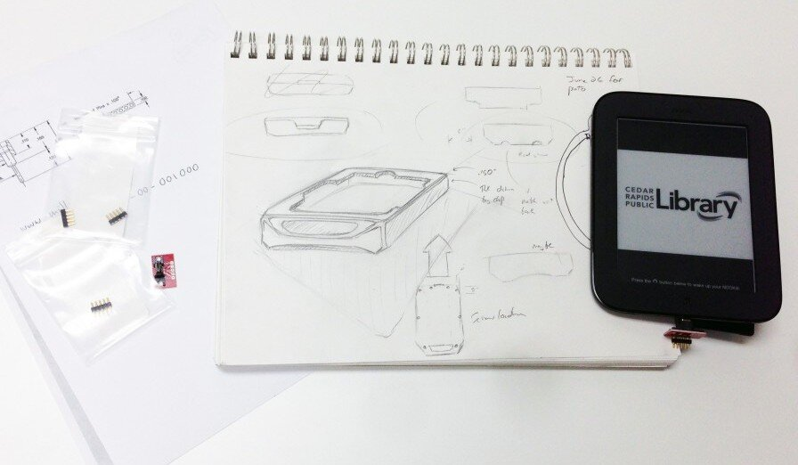 e-Reader Case Drawing