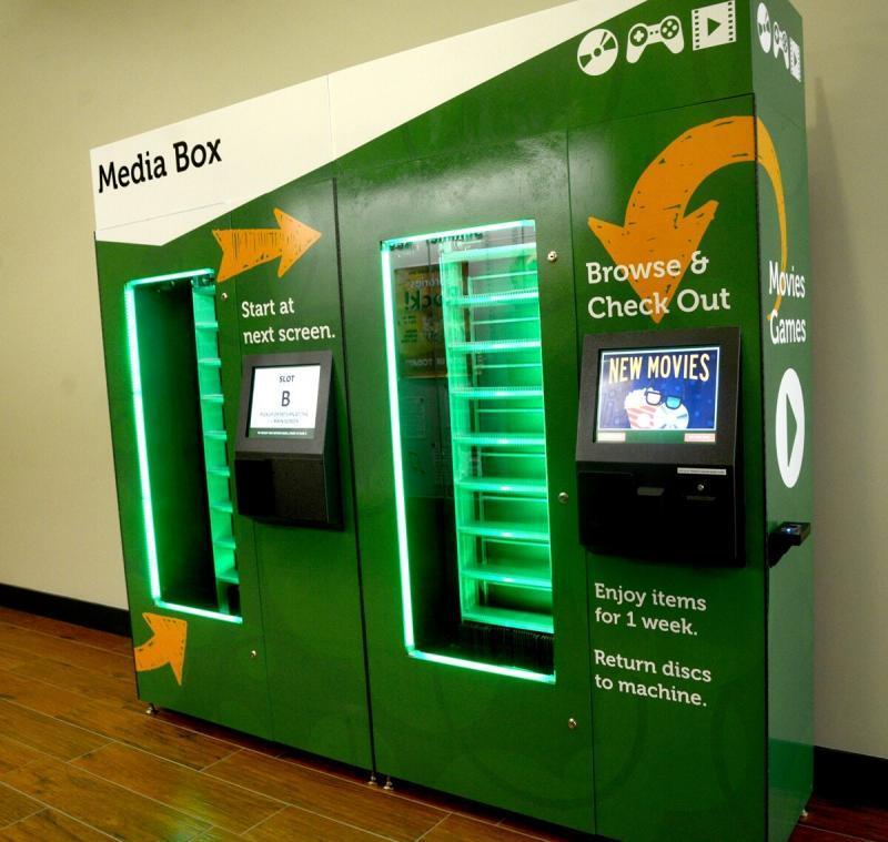 library dvd vending kiosk