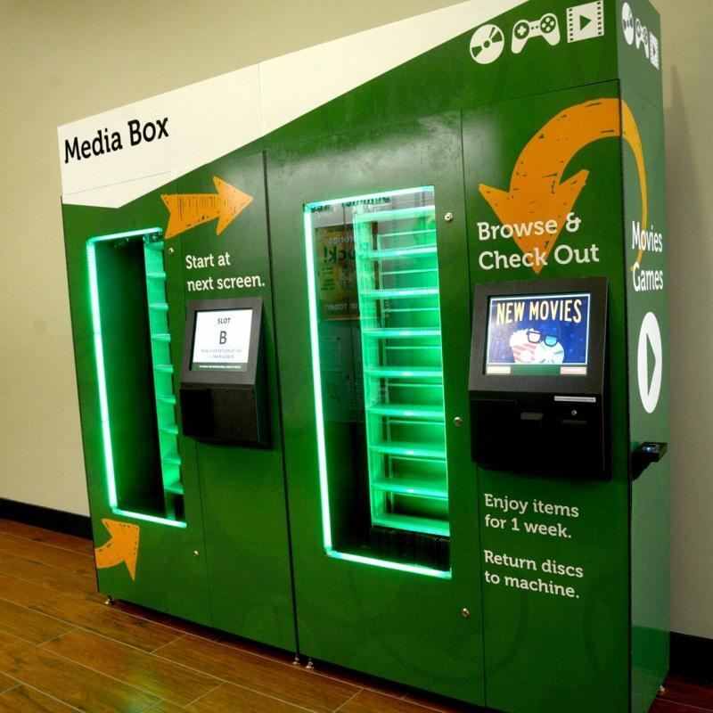 library dvd vending kiosk