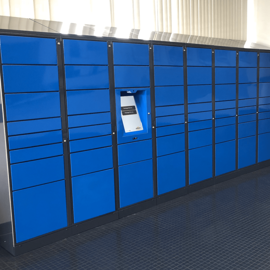 self-service library locker system