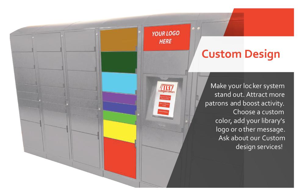 custom designed library locker system